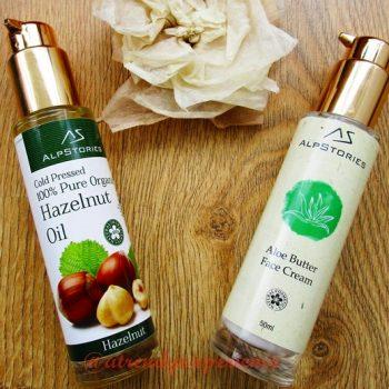AlpStories Cosmetics olio di nocciole e crema al burro di aloe