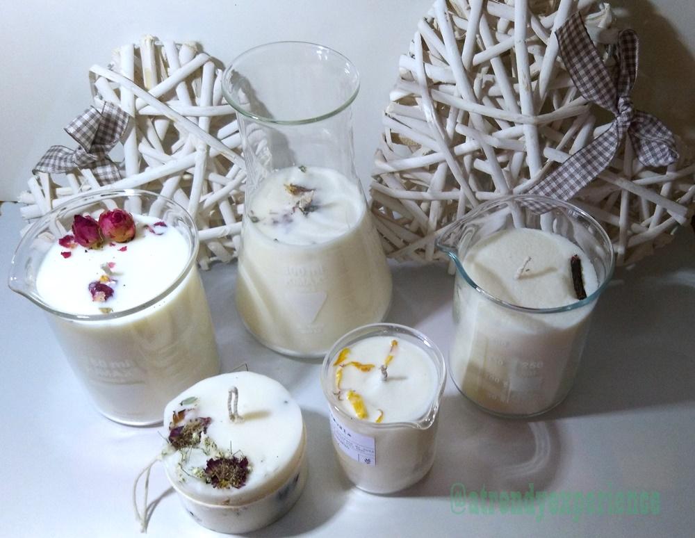 candele di soia vegetali