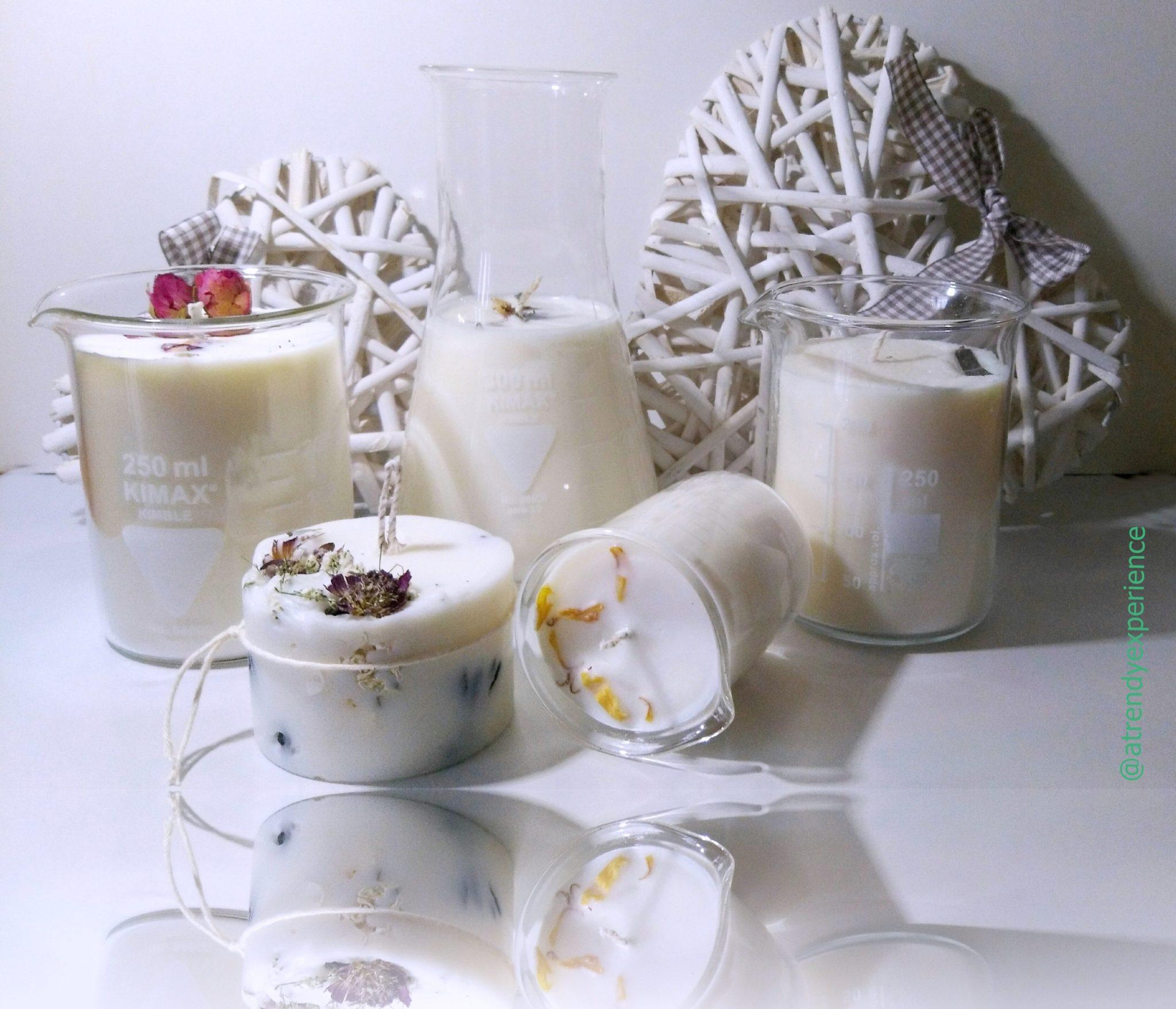 candele vegetali artigianali