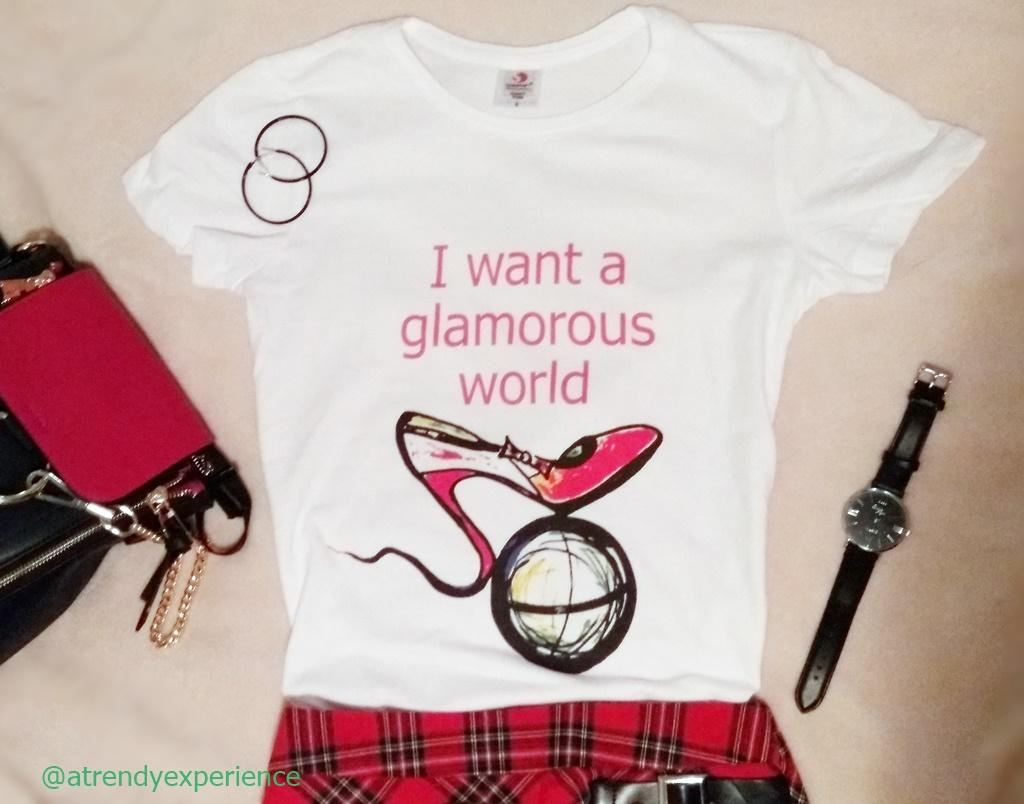 La t-shirt slogan