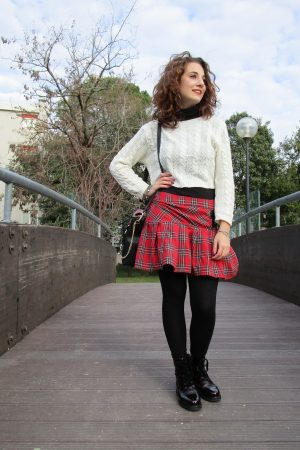 come indossare la gonna in tartan