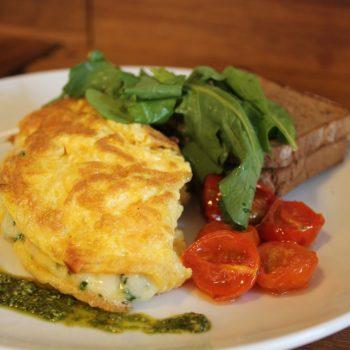 omelette al prosciutto