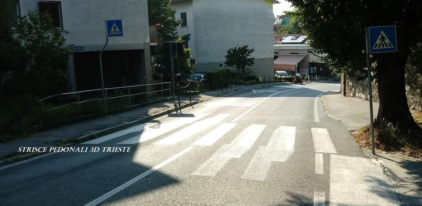 come si crea l'illusione ottica delle strisce pedonali 3D