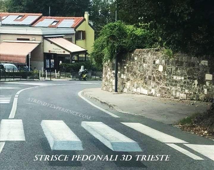 illusione ottica delle strisce pedonali tridimensionali
