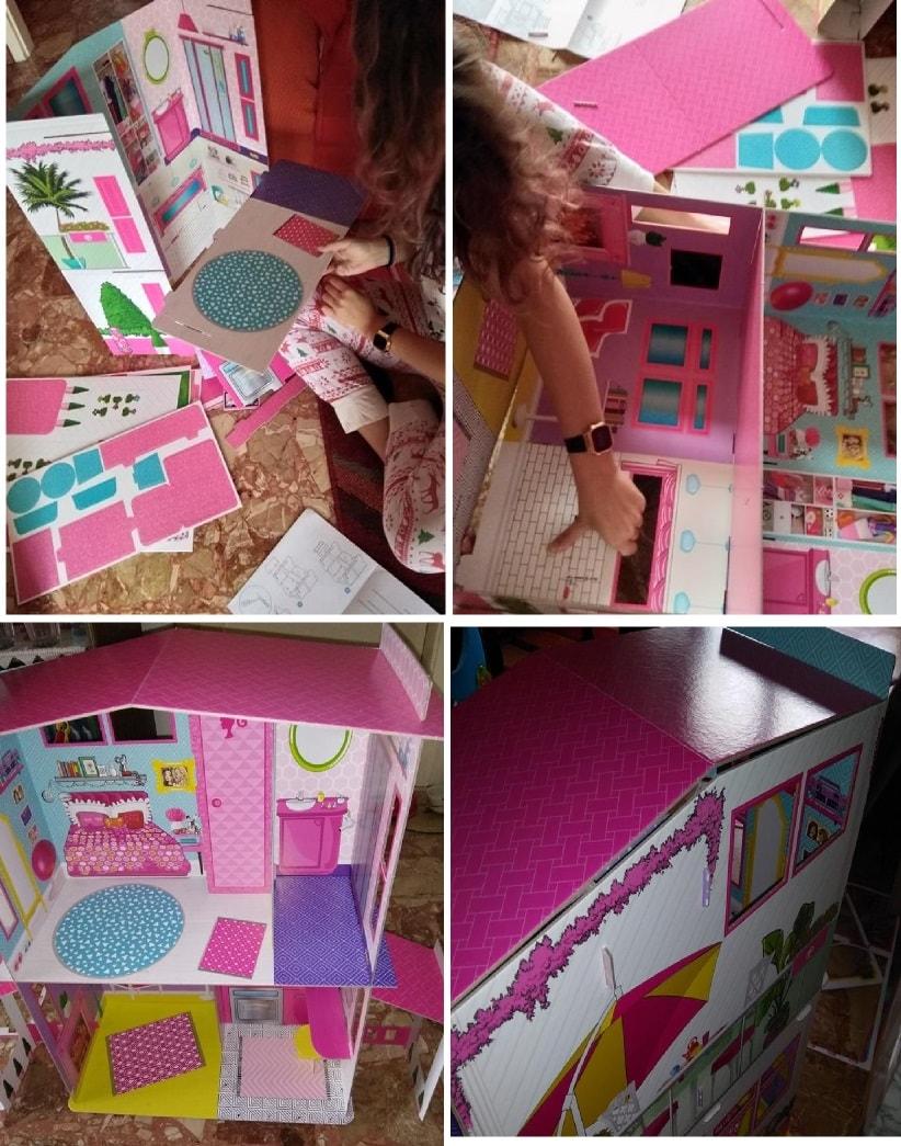 come costruire la casa di barbie