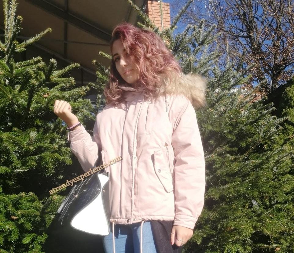 giacca parka corta donna rosa