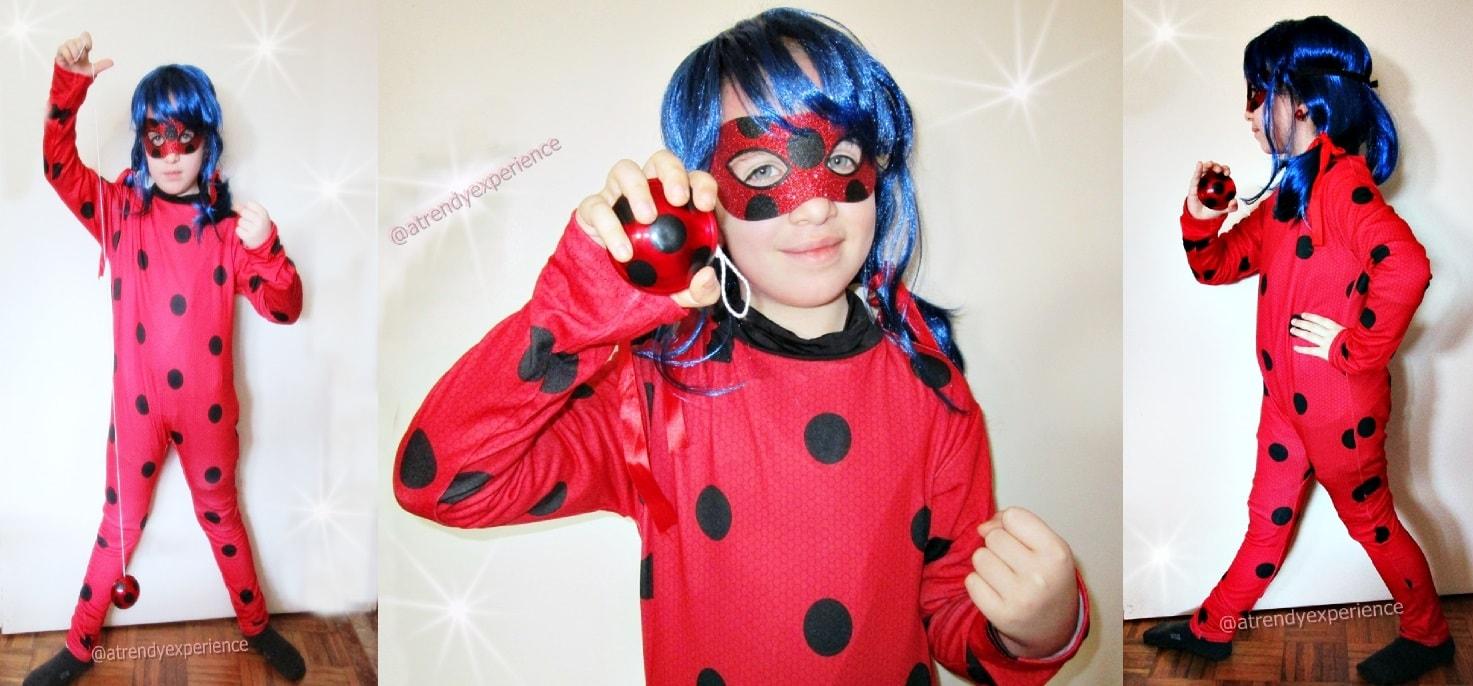 carnevale costume completo ladybug bambina