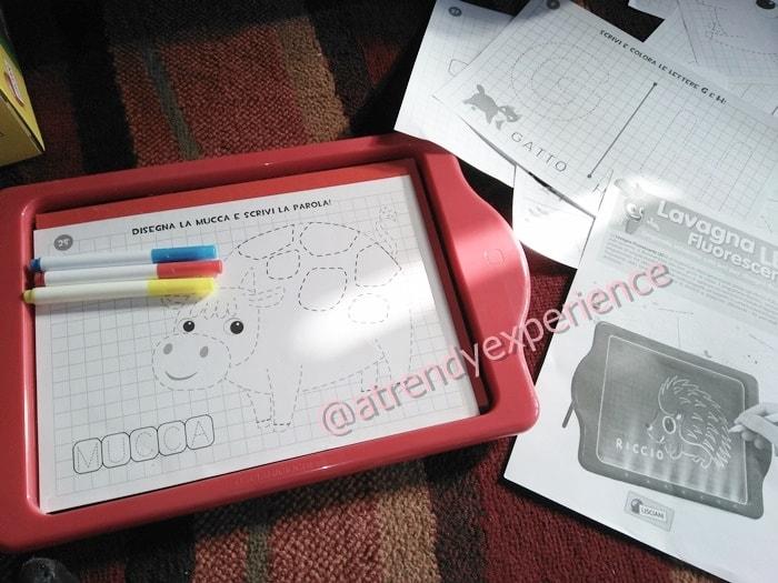 imparare a scrivere con la lavagna luminosa