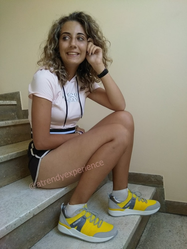 calzature sneakers donna gialle Ara Shoes modello Ara fusion4