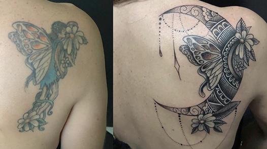 cover up tattoo come coprire un tatuaggio con la tecnica cover up