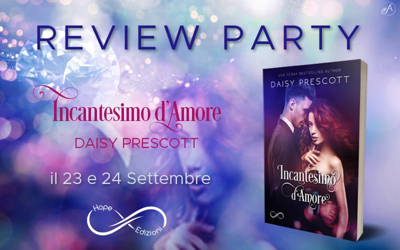 review party cover di incantesimo d'amore di daisy prescott hope edizioni