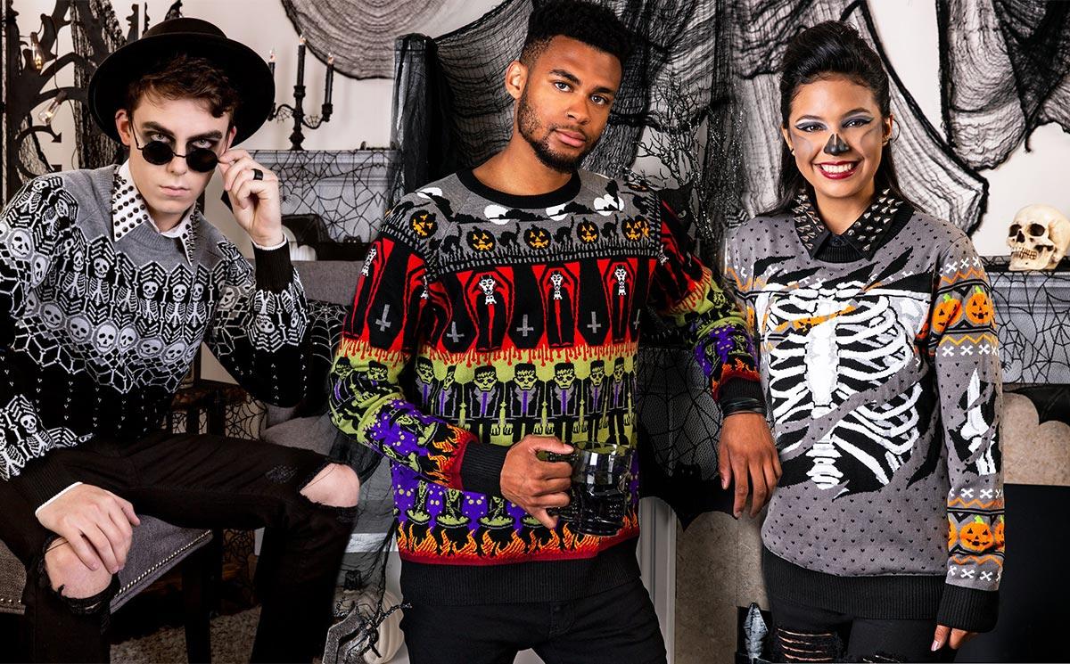 moda uomo maglioni di halloween