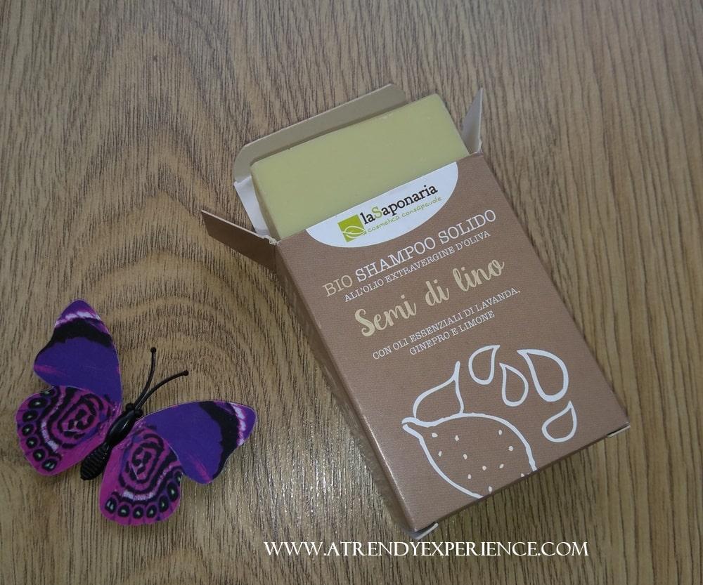 shampoo solido semi di lino la saponaria bio