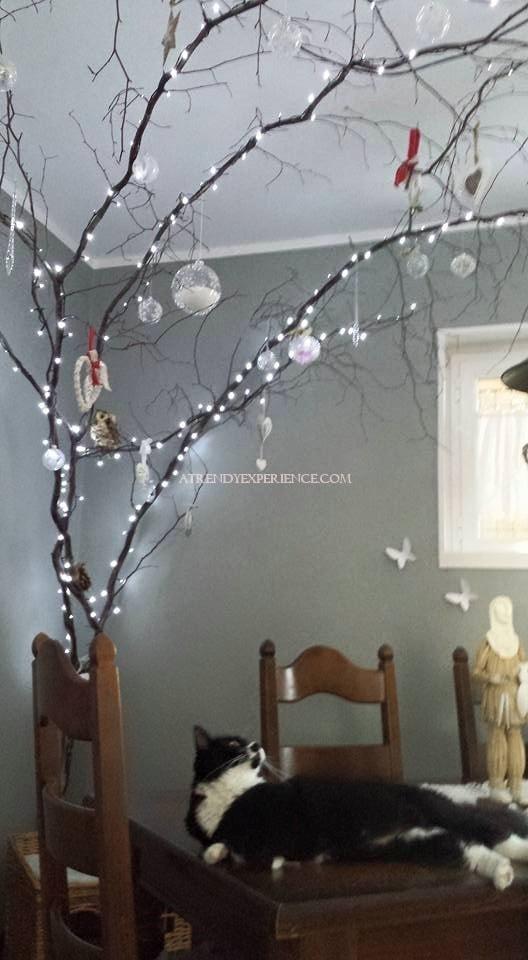 albero di Natale minimal shabby