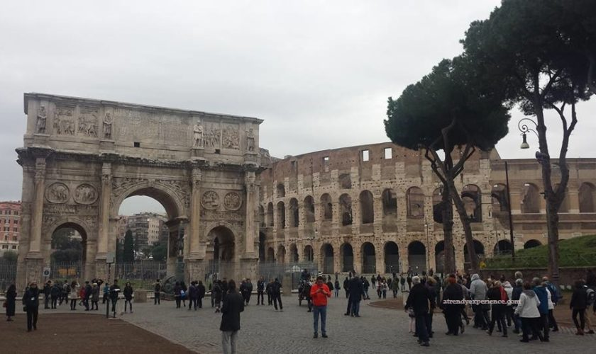 Arco di Costantino e Colosseo Roma