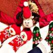 calze natalizie imbottite con suola antisdrucciolo