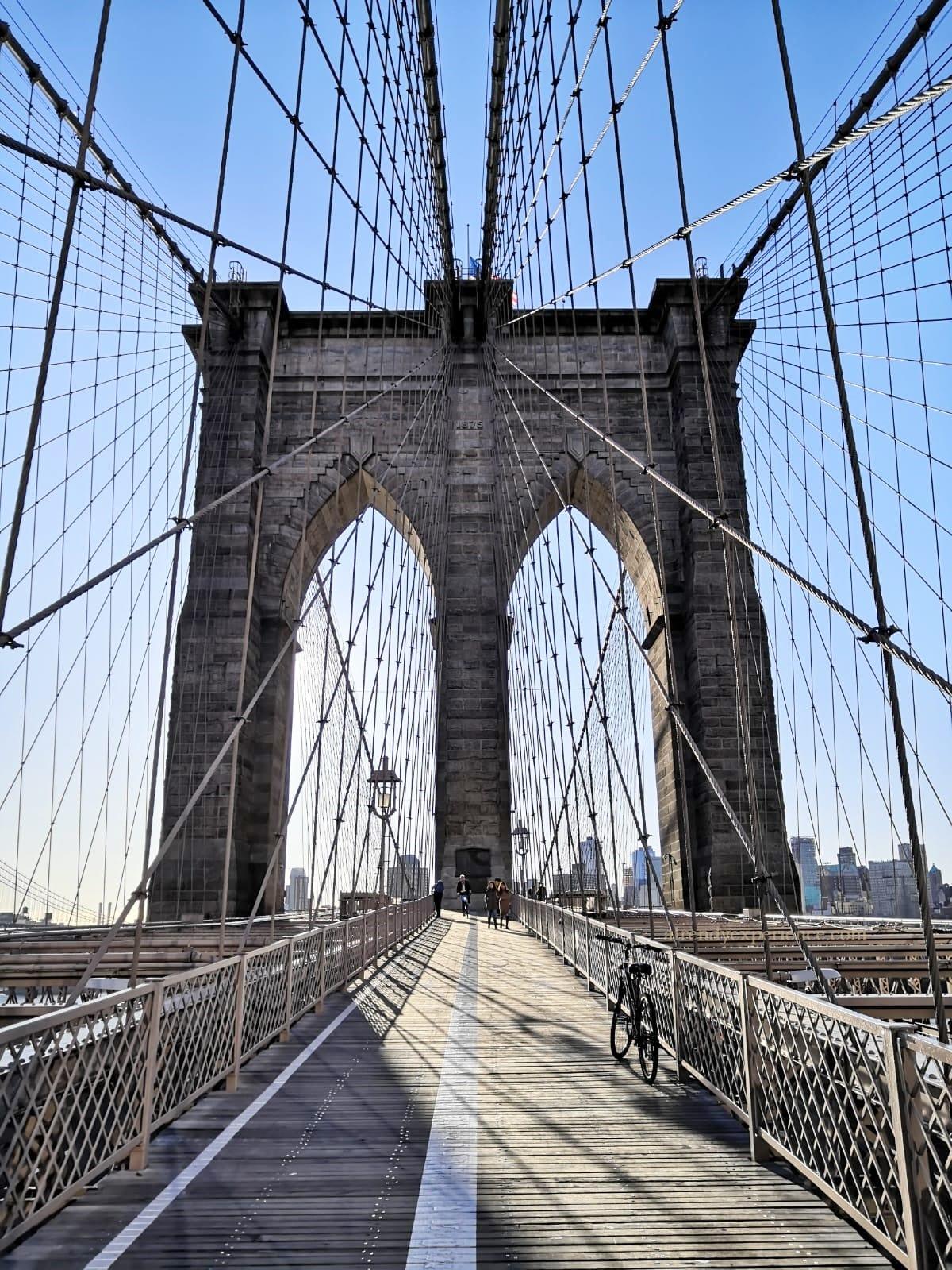 ponte di Brooklyn pista ciclabile e pedonale