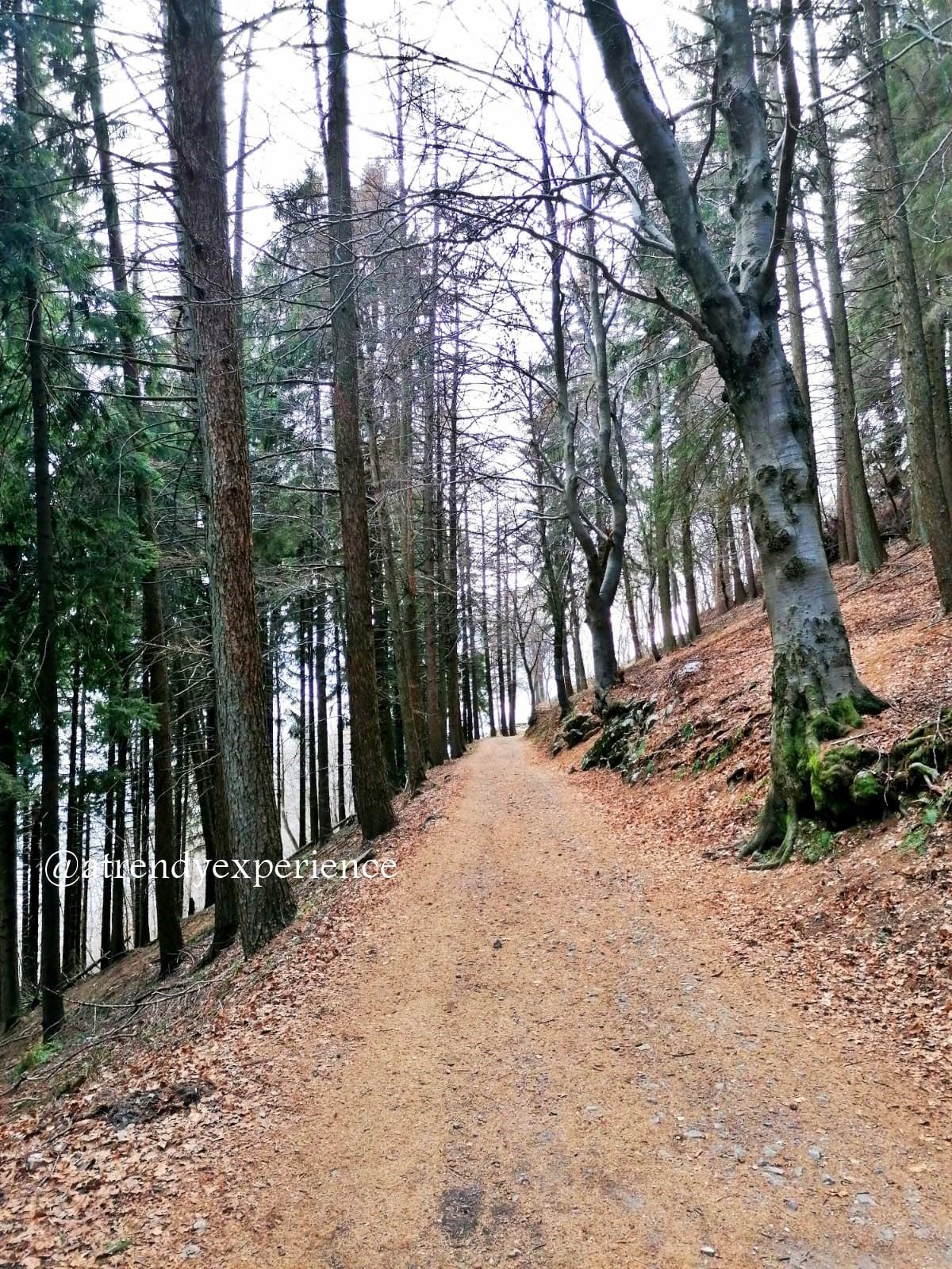 sentiero del forte di orino percorso a piedi