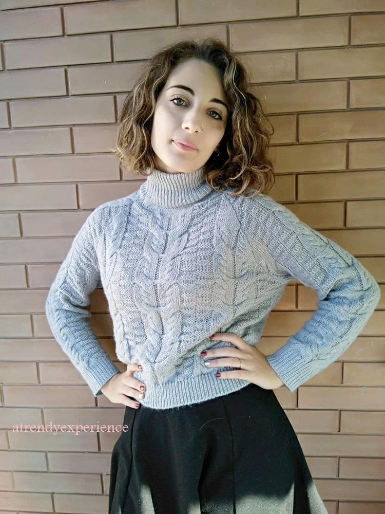 maglione a collo alto come indossarlo per essere al top