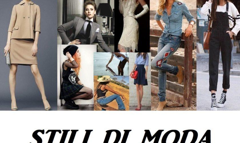 stili di moda tutti gli stili di moda
