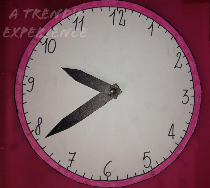 insegnare l'ora ai bambini con l'orologio analogico fai da te