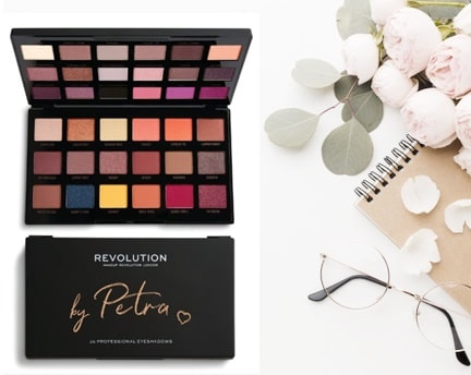 make up revolution by petra palette ombretti