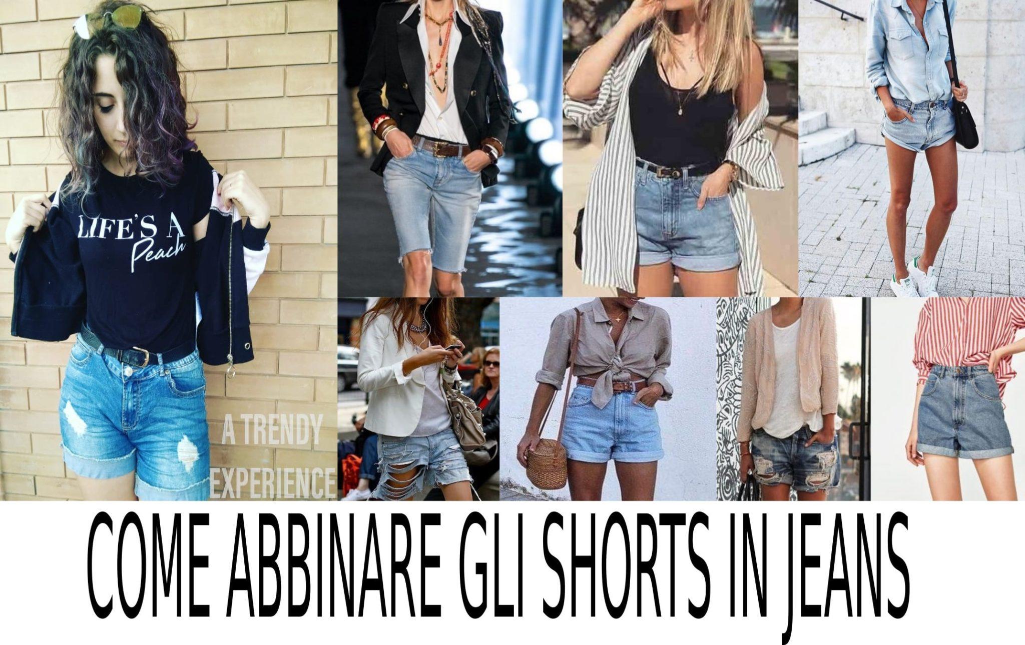 creare e abbinare gli shorts jeans