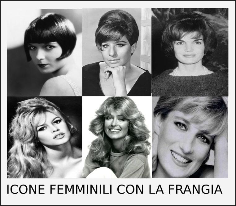 moda capelli donna la frangia icone femminili