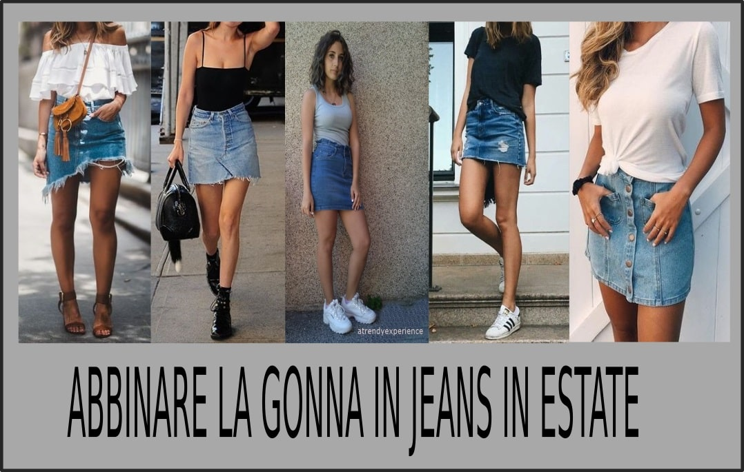 come abbinare la gonna in jeans