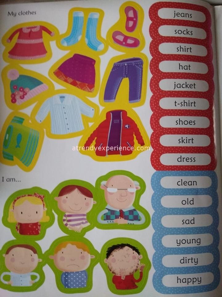 adesivi abiti inglese per bambini