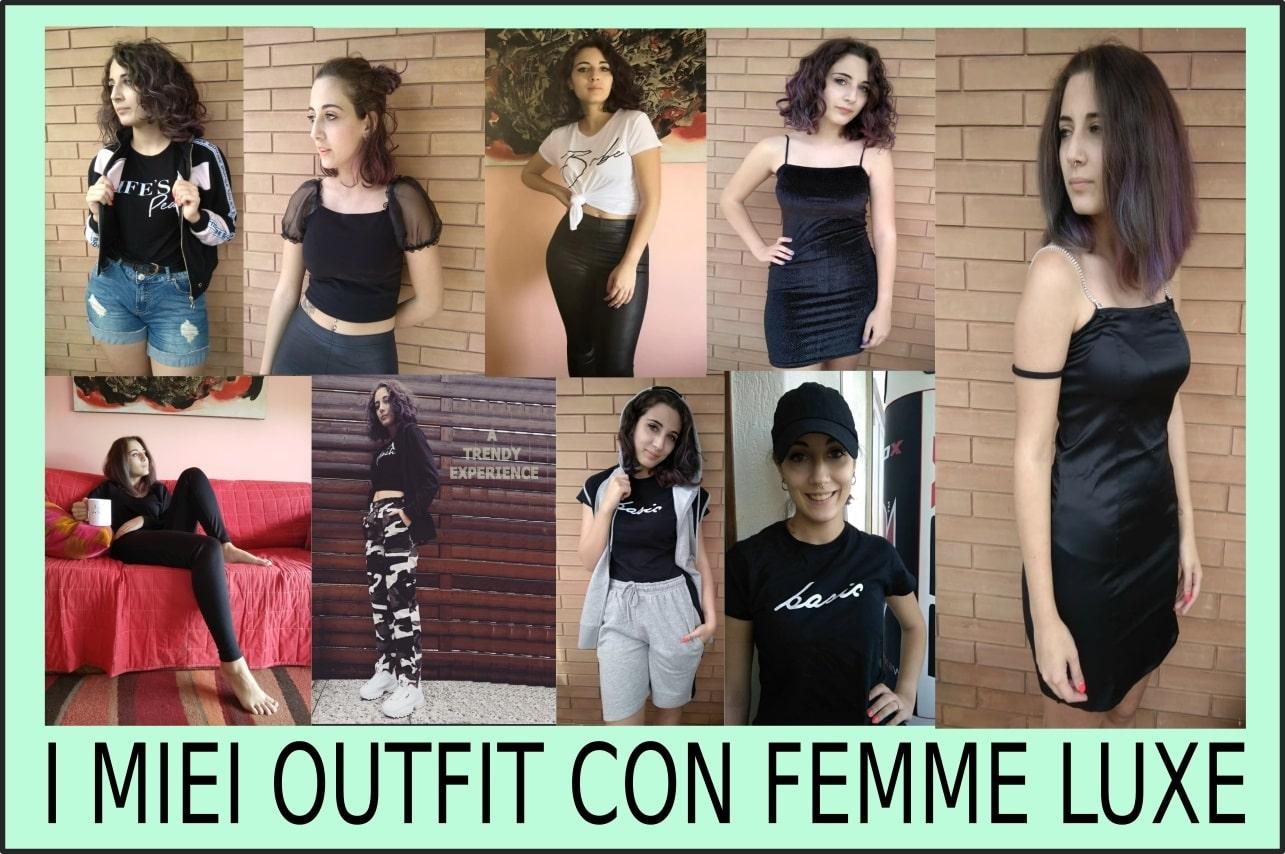 outfit con abiti di Femme Luxe