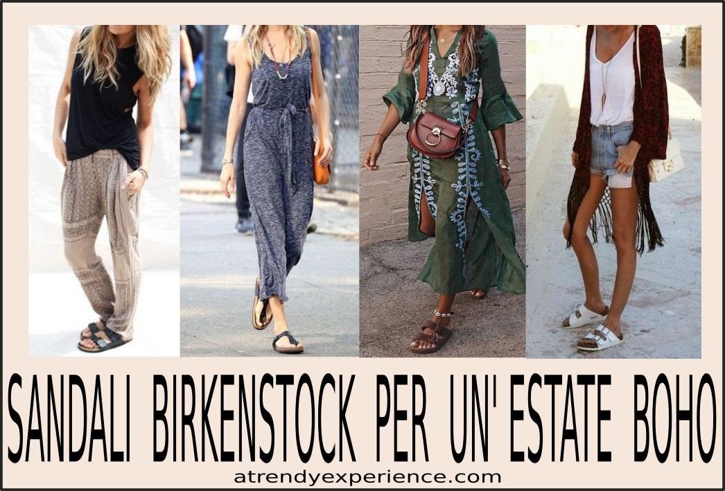 calzature boho sandali birkenstock