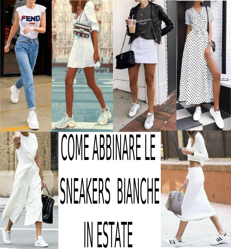 come abbinare le sneakers bianche outfit pinterest