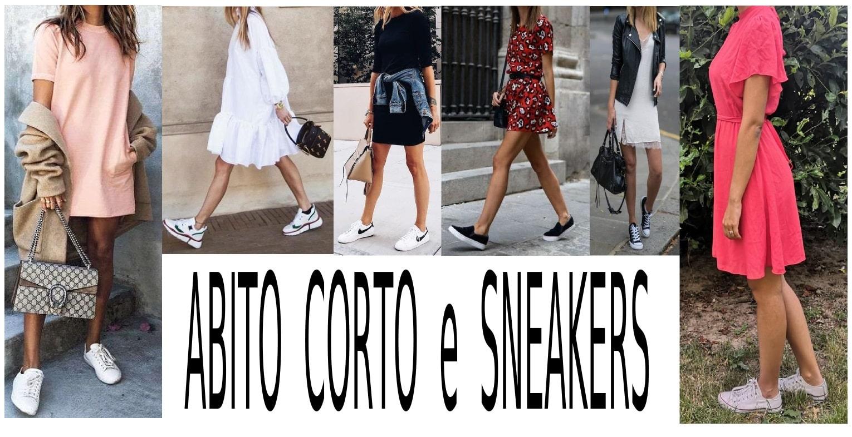 vestito corto e scarpe da ginnastica abbinamenti