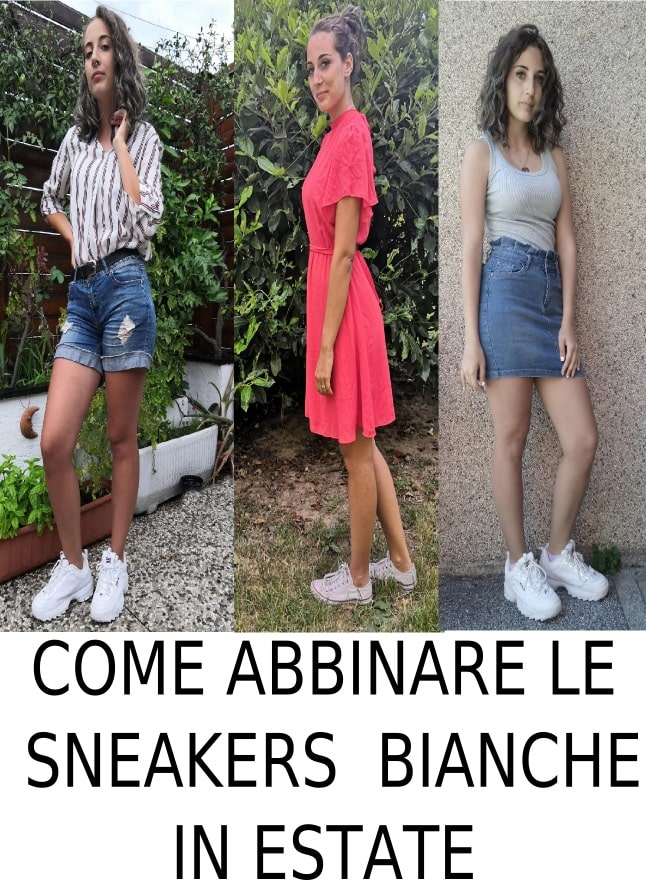 i miei outfit con le sneakers bianche
