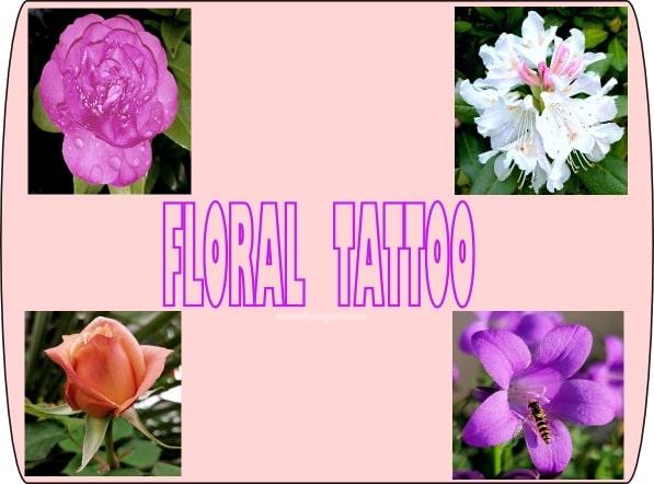 floral tattoo con fiori veri
