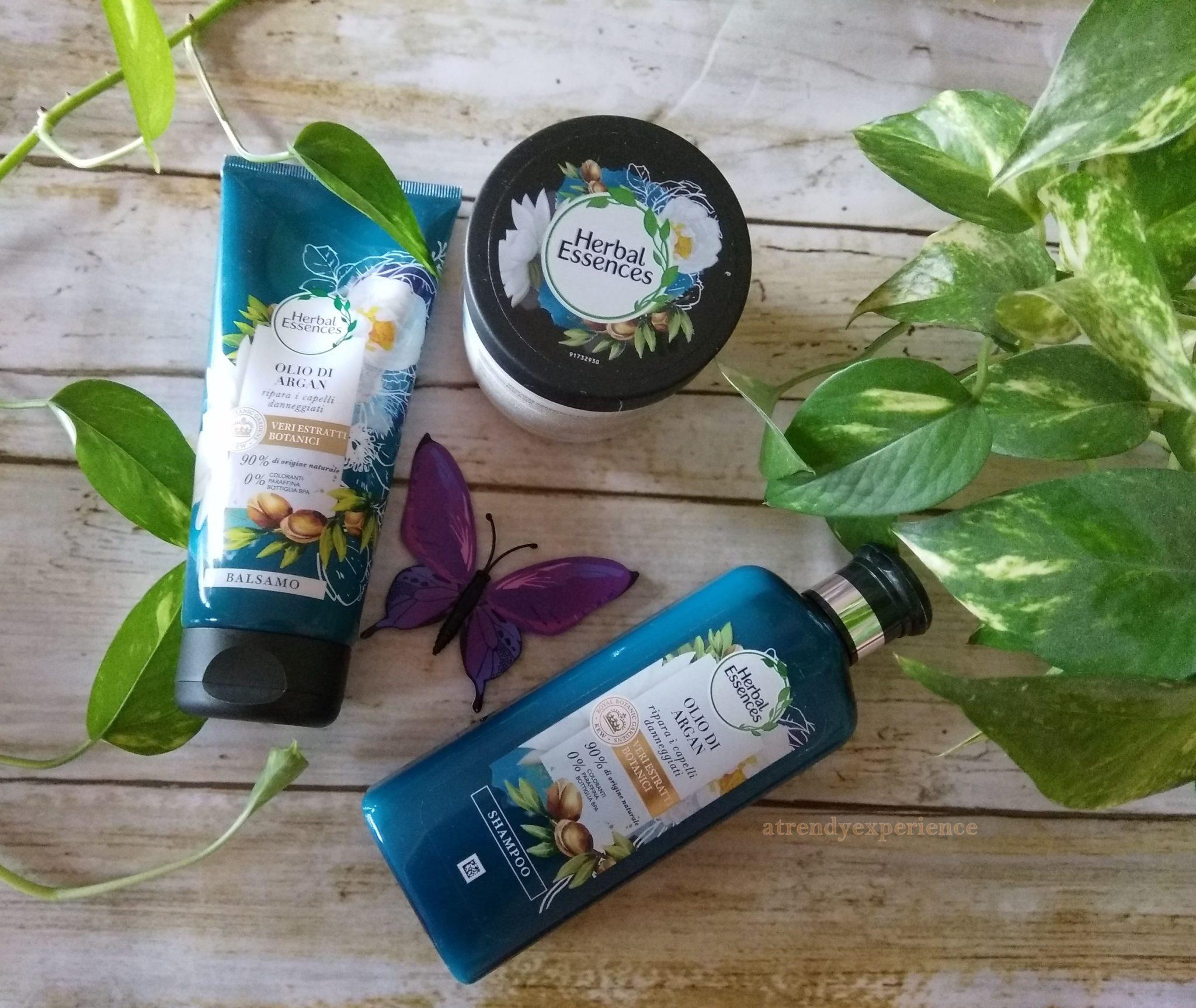 nuova linea olio di argan herbal essences