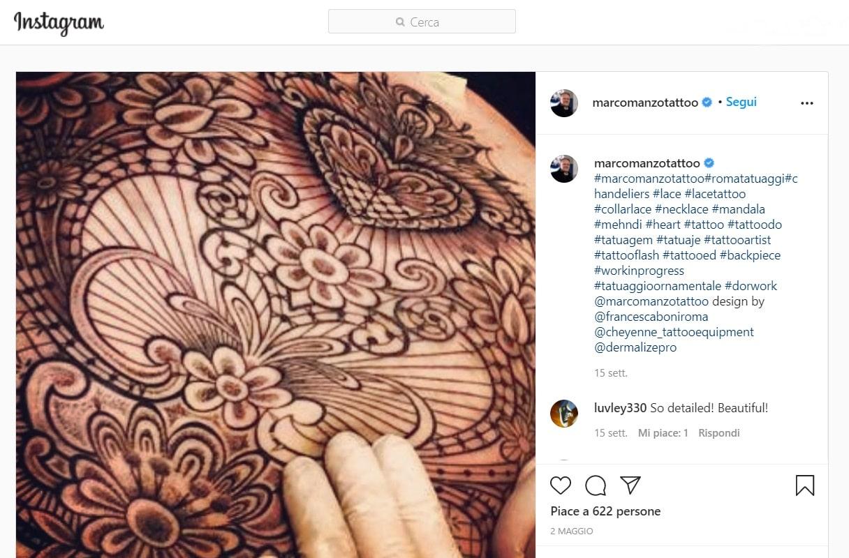 marco manzo migliori tatuatori stile ornamentale italiano