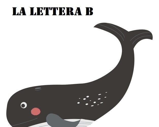 lettera B di balena pregrafismi frasi facili da leggere