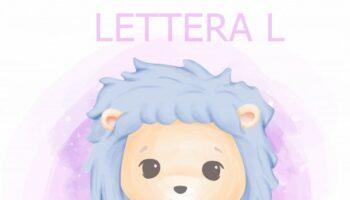 lettera L frasi facili da leggere e scrivere