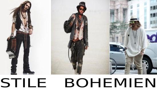 moda uomo stile bohemien