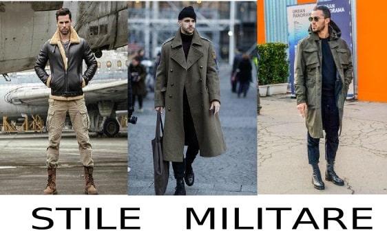 moda uomo stile militare