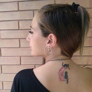 tatuaggio con gatto