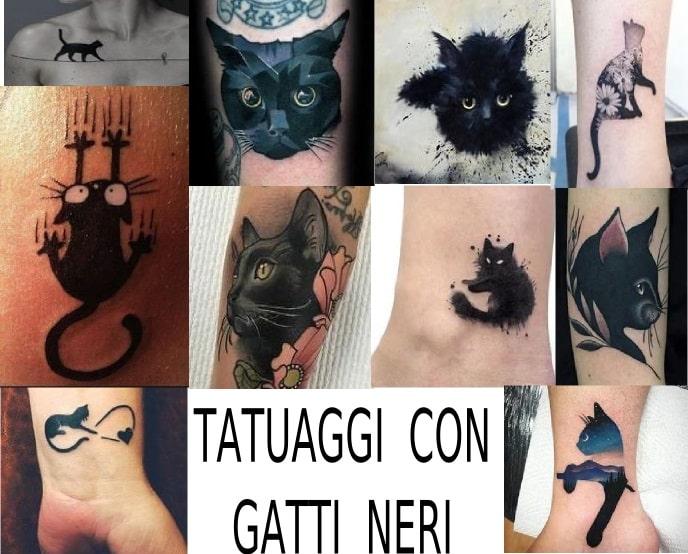 tatuaggio con gatto nero i più belli del web
