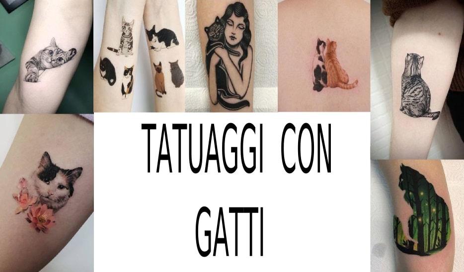 tatuaggio con gatto pinterest