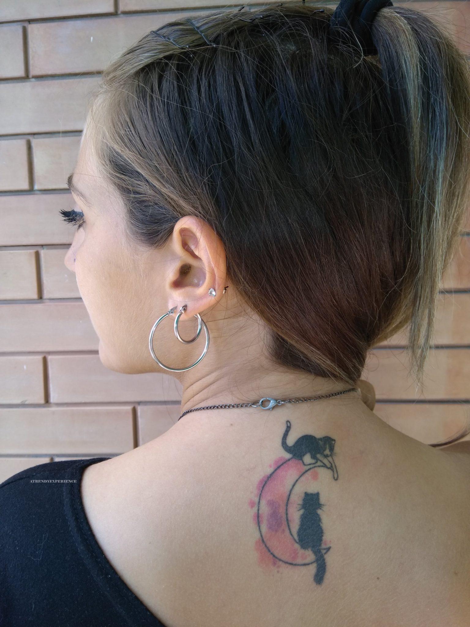 tatuaggio con gatto nero