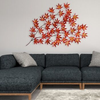 arte dal mondo foglie dorate