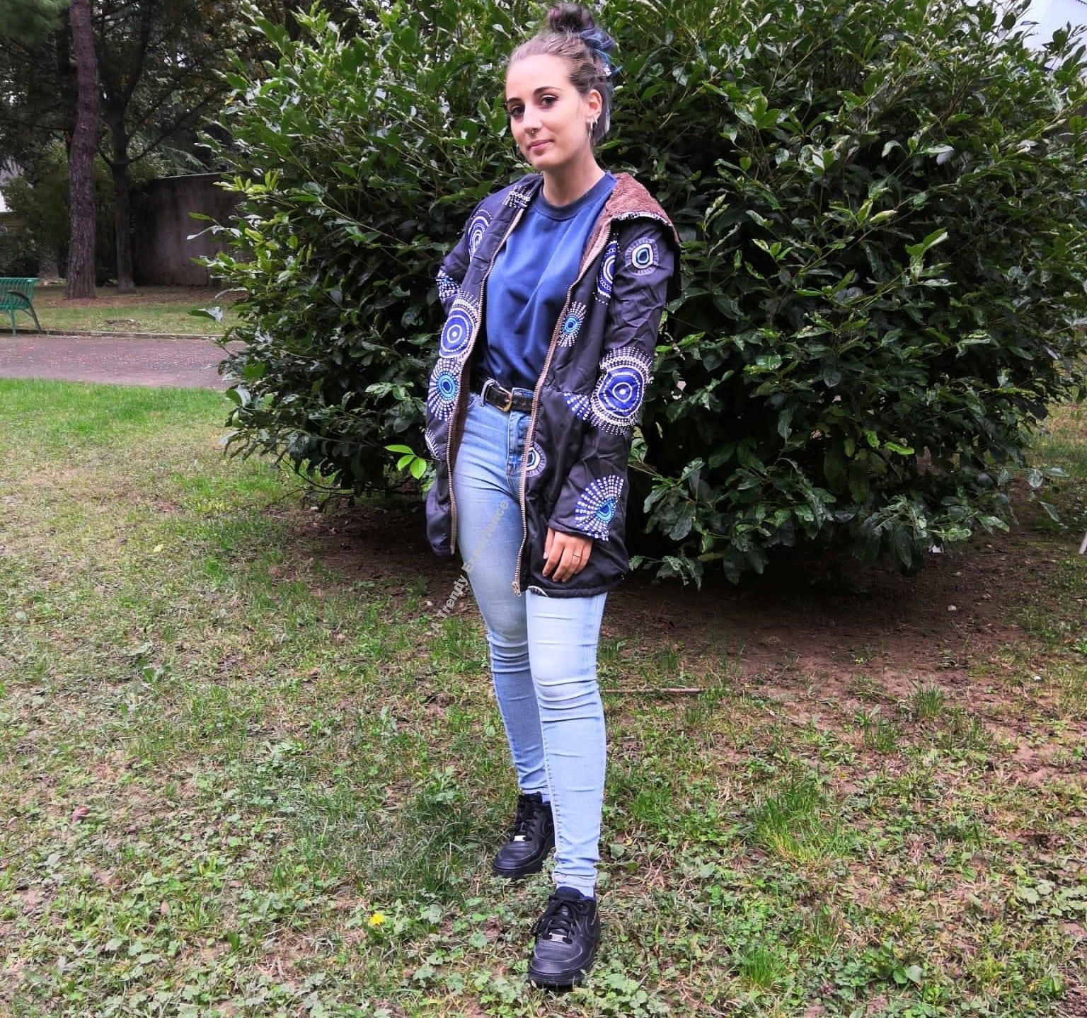 giacca blu come creare un outfit tutto blu