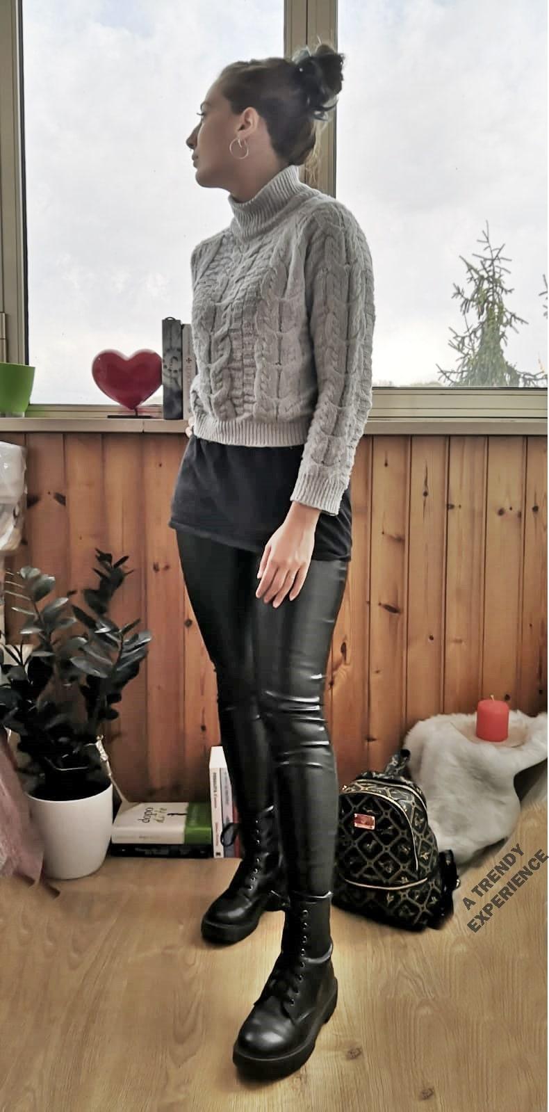 outfit leggins ecopelle come crearlo