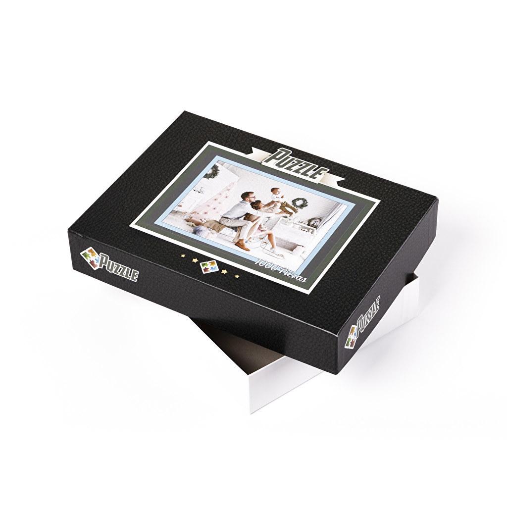 scatola in cartone puzzle personalizzati con foto